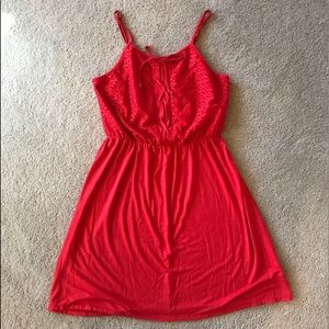 Red Love, Fire cotton dress New without tags